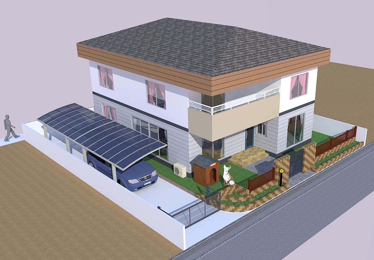 3D住宅パース