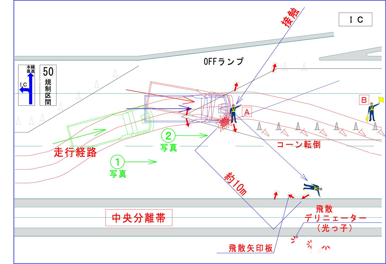 事故状況-拡大図