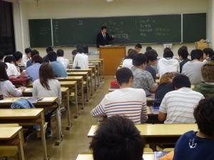 岡山理科大学社会情報学科における、平成27年度 危機管理論講義04