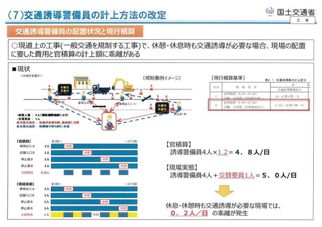 交通誘導員の料金の算定方法6