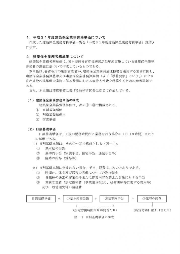 平成31年度建築保全業務単価02
