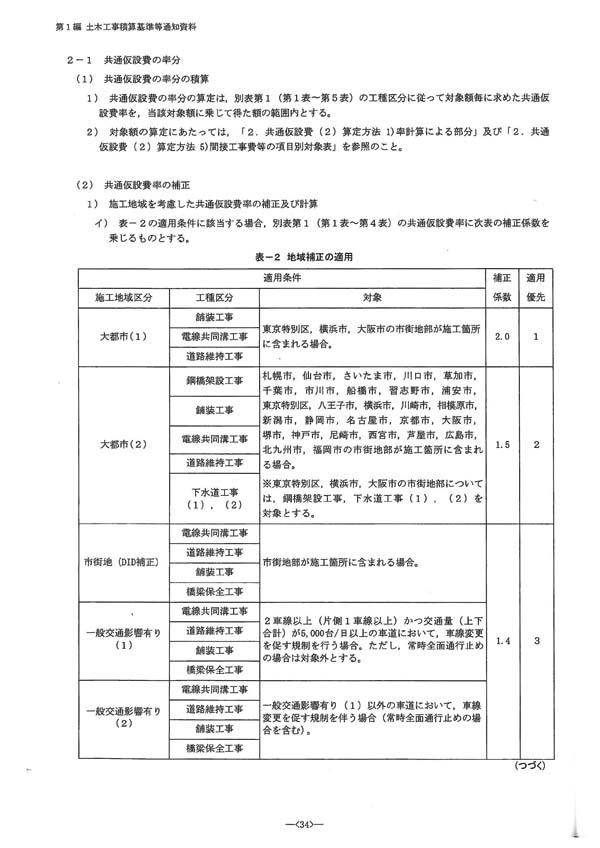 令和2年度国土交通省土木工事・業務の積算基準等の改定02