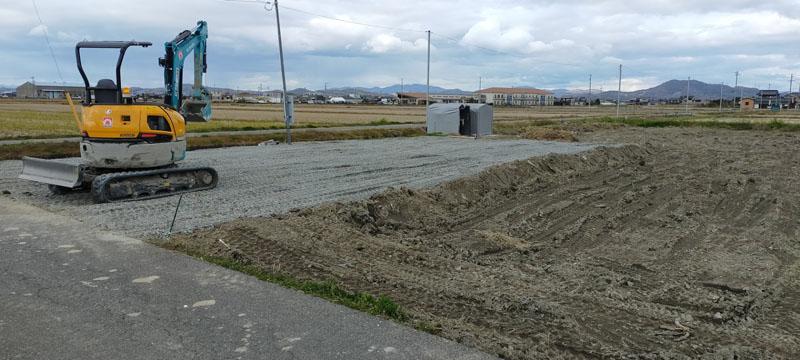 6駐車場完成